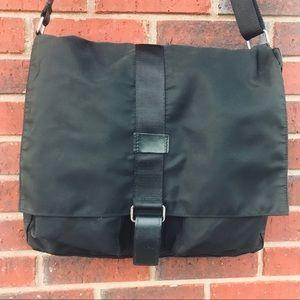 Men's Black Nylon Large Crossbody Shoulder Bag
